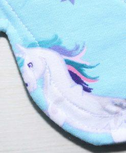 "8"" Regular Flow cloth pad | Unicorns Cotton Jersey | Aqua Soft Shell | Luna Landings | Slim Sub"