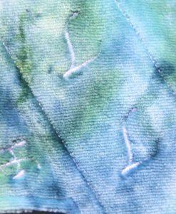 "9"" Heavy Flow cloth pad | My Dye Bamboo Velour | Blue Wind Pro Fleece | Luna Landings | Slim Sub"