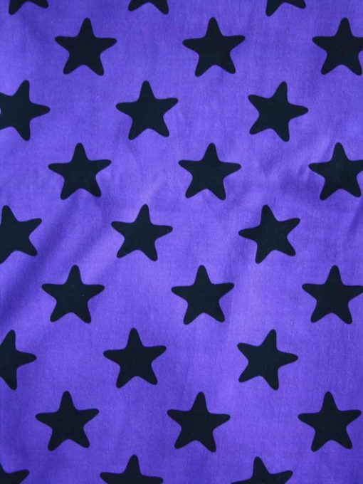 Purple Stars Cotton Jersey