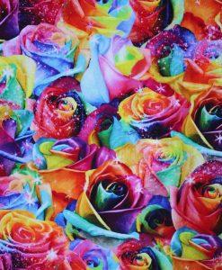 Custom made reusable cloth menstrual sanitary pad (CSP) | Fabric: Top layer - Cotton Jersey, Design: Majestic Sparkle Roses