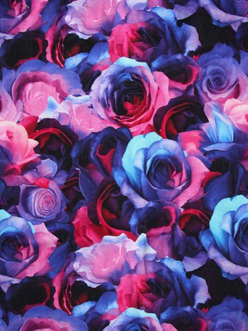 Custom made reusable cloth menstrual sanitary pad (CSP)   Fabric: Top layer - Cotton Jersey, Design: Opulence Roses