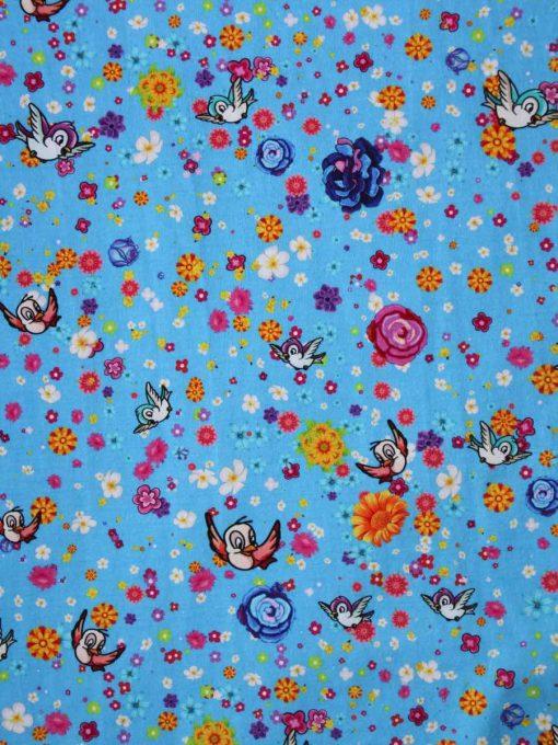Custom made reusable cloth menstrual sanitary pad (CSP) | Fabric: Top layer - Cotton Jersey, Design: Rosebird