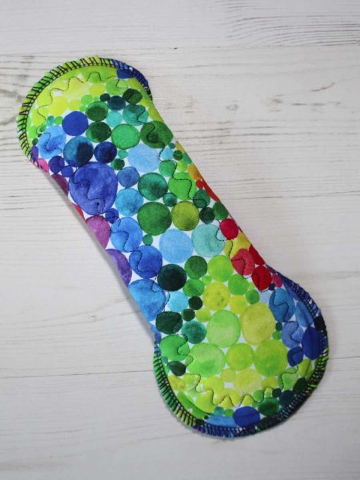 10-inch-Heavy-Flow-cloth-menstrual-pad-Rainbow-Bubbles-Cotton-Jersey-and-Navy-Polar-Fleece-Aunt-Irmas-Curvy-Moonglow_5