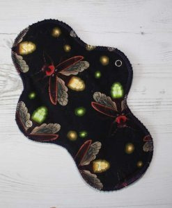10-inch-Regular-Flow-cloth-menstrual-pad-FireFlies-Cotton-Jersey-and-Navy-Polar-Fleece-Aunt-Irma's-Curvy-Moonglow_1