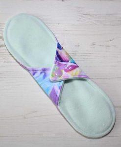 10″ Regular Flow cloth pad | Florence Roses Cotton Jersey | Mint Wind Pro Fleece | Luna Landings | Sub