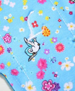 10″ Regular Flow cloth pad | Rosebird Cotton Jersey | Blue Wind Pro Fleece | Luna Landings | Sub