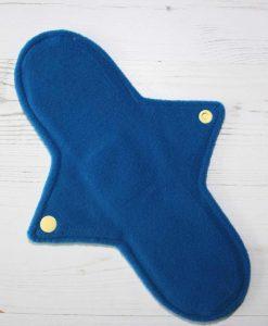 10″ Regular Flow cloth pad | Rosebird Cotton Jersey | Blue Wind Pro Fleece | Luna Landings | Sub