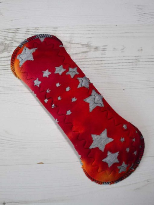 10-inch-Regular-Flow-cloth-menstrual-pad-Stars-on-Red-Ombre-Cotton-Jersey-and-Navy-Polar-Fleece-Aunt-Irma's-Curvy-Moonglow_5