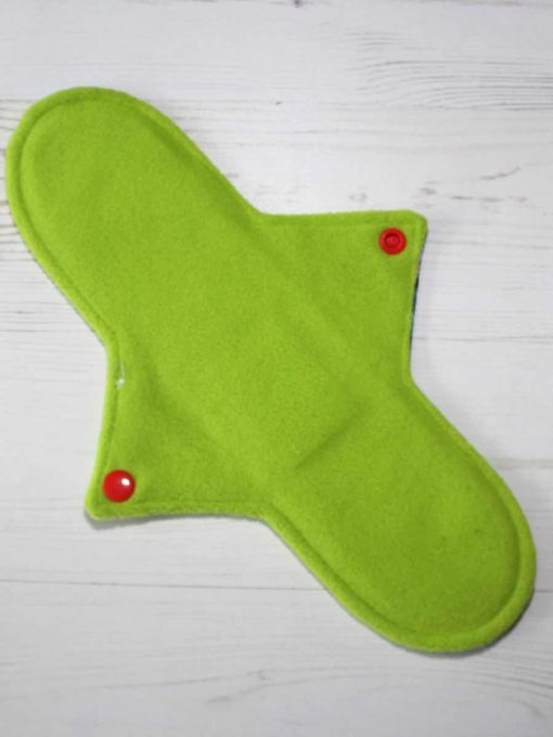 "11"" Regular Flow cloth pad | Avengers Cotton | Green Wind Pro Fleece | Luna Landings | Sub"