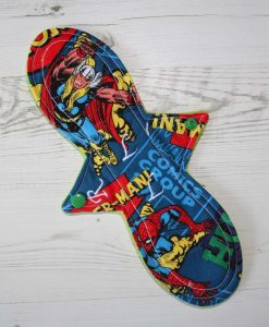 11″ Regular Flow cloth pad | Comic Thor Cotton | Lemongrass Wind Pro Fleece | Luna Landings | Slim Sub