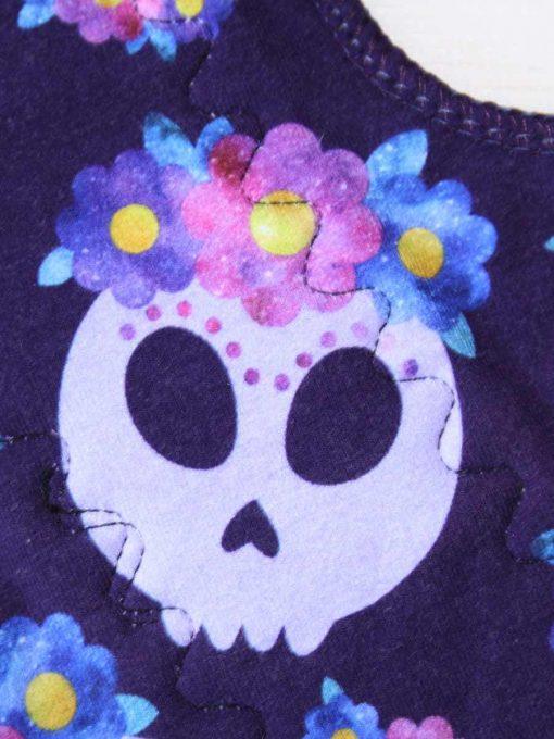 12-inch-Heavy-Flow-cloth-menstrual-pad-Lilac-Skulls-Cotton-Jersey-and-Navy-Polar-Fleece-Aunt-Irma's-Curvy-Moonglow_2