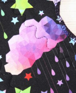 12-inch-Heavy-Flow-cloth-menstrual-pad-Rainbow-Clouds-Cotton-Jersey-and-Navy-Polar-Fleece-Aunt-Irma's-Curvy-Moonglow_2