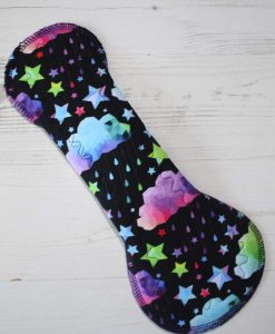 12-inch-Heavy-Flow-cloth-menstrual-pad-Rainbow-Clouds-Cotton-Jersey-and-Navy-Polar-Fleece-Aunt-Irma's-Curvy-Moonglow_5