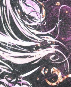 "12"" Regular Flow cloth pad | Purple Sketch Roses Cotton Jersey | Purple Polar Fleece | Crafty Mrs B |"