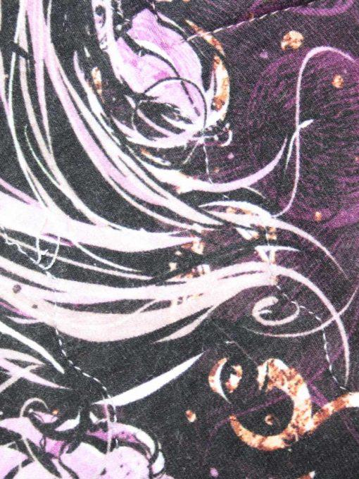 12″ Regular Flow cloth pad   Purple Sketch Roses Cotton Jersey   Purple Polar Fleece   Crafty Mrs B  