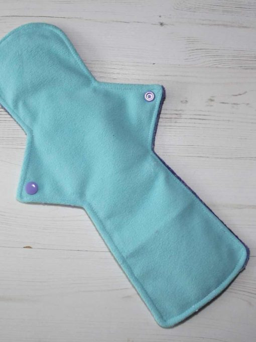 14″ Heavy Flow cloth pad | Mystic Potion Plush | Aqua Soft Shell | Luna Landings | Double Flare