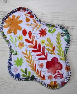 8-inch-Regular-Flow-cloth-menstrual-pad-Flowers-on-White-Cotton-Jersey-and-Navy-Polar-Fleece-Aunt-Irma's-Curvy-Moonglow_1