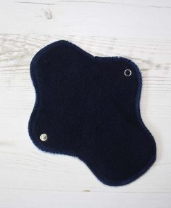 8-inch-Regular-Flow-cloth-menstrual-pad-Flowers-on-White-Cotton-Jersey-and-Navy-Polar-Fleece-Aunt-Irmas-Curvy-Moonglow_3