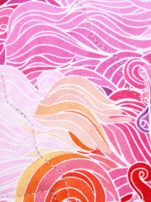 "8"" Regular Flow cloth pad   Pink Swirls Cotton Jersey   Pink Polar Fleece   Crafty Mrs B  "