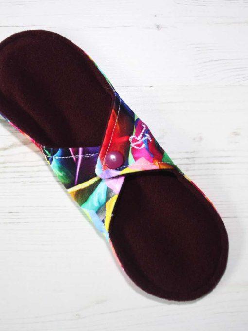 "9"" Regular Flow cloth pad | Majestic Roses Cotton Jersey | Burgundy Wind Pro Fleece | Luna Landings | Sub"