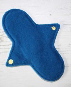 9″ Regular Flow cloth pad | Rosebird Cotton Jersey | Blue Wind Pro Fleece | Luna Landings | Sub
