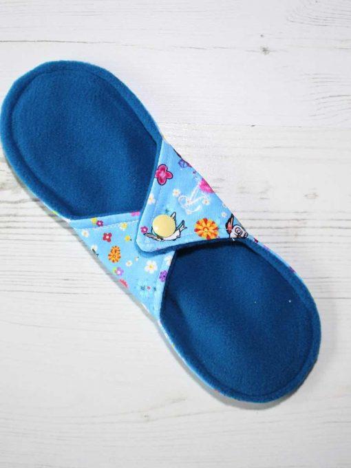 "9"" Regular Flow cloth pad | Rosebird Cotton Jersey | Blue Wind Pro Fleece | Luna Landings | Sub"