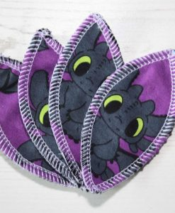 Toothless Purple Interlabial pads - set of 4