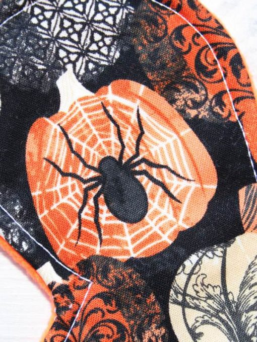 8″ Liner cloth pad | Halloween Cotton | Orange Soft Shell | Luna Basics | Slim Sub