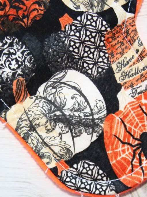 8″ Liner cloth pad | Halloween Cotton | Orange Soft Shell | Luna Basics | Sub