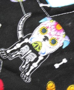 10″ Liner cloth pad | Day of the Dead Dogs Cotton | Blue Soft Shell | Luna Landings | Slim Sub