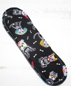 10″ Regular Flow cloth pad   Day of the Dead Dogs Cotton   Blue Soft Shell   Luna Landings   Sub