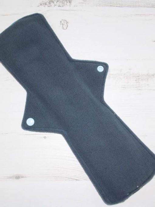 "14"" Heavy Flow cloth pad   Toothless Rainbow Cotton Jersey   Grey Wind Pro Fleece   Luna Landings   Double Flare"