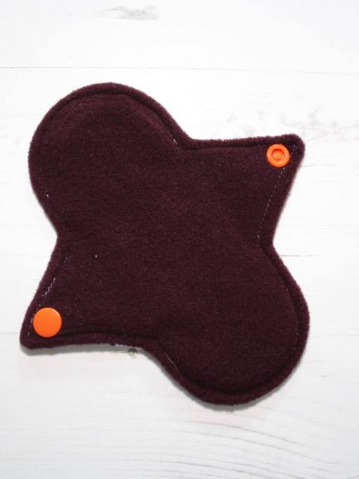 "6"" Light cloth pad | Pumpkin King Cotton | Burgundy Wind Pro Fleece | Luna Landings | Sub"