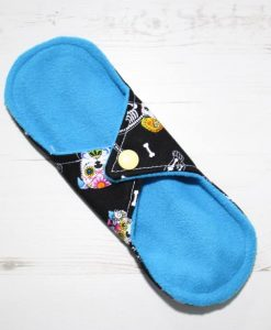 8″ Liner cloth pad   Day of the Dead Dogs Cotton   Blue Soft Shell   Luna Landings   Sub