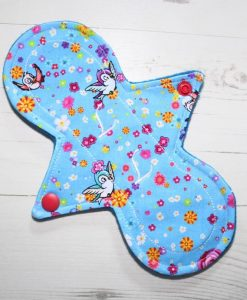 8″ Liner cloth pad | Rosebird Cotton | Blue Wind Pro Fleece | Luna Landings | Slim Sub