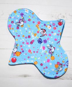 8″ Liner cloth pad | Rosebird Cotton | Blue Wind Pro Fleece | Luna Landings | Sub