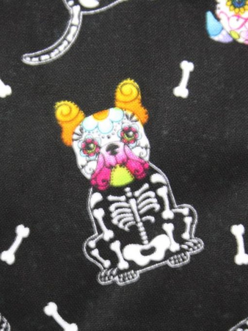 8″ Regular Flow cloth pad | Day of the Dead Dogs Cotton | Blue Soft Shell | Luna Landings | Sub
