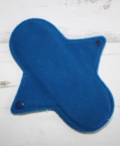 8″ Regular Flow cloth pad | Sloth Cotton Jersey | Blue Wind Pro Fleece | Luna Landings | Sub