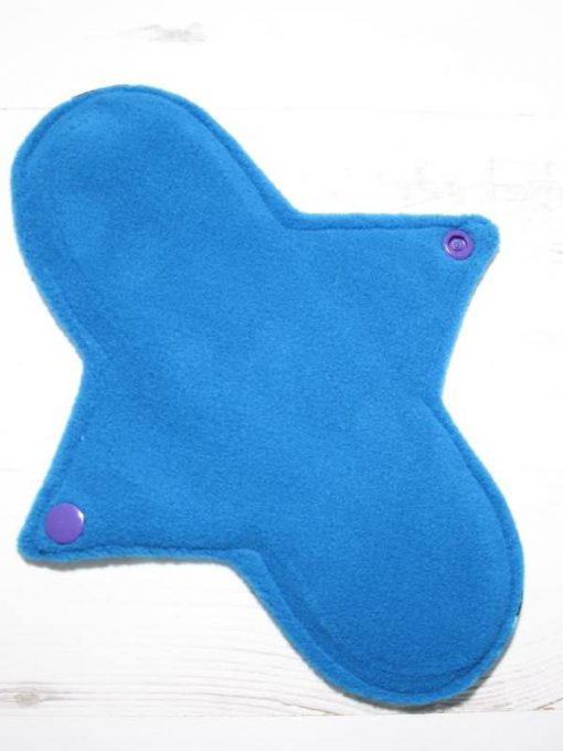 9″ Regular Flow cloth pad | Magic Spells Stars Cotton Jersey | Blue Wind Pro Fleece | Luna Landings | Sub