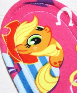 9″ Regular Flow cloth pad | My Little Pony Pink Cotton Jersey | Pink Microfleece | Luna Landings | Sub