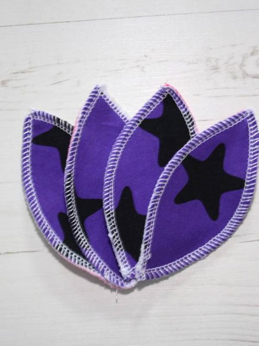Purple Stars Interlabial pads - set of 4
