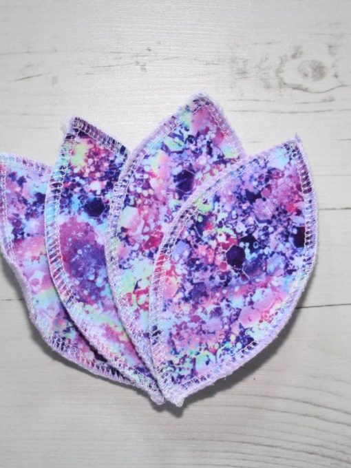 Mermaids Hair Glitter Interlabial pads - set of 4