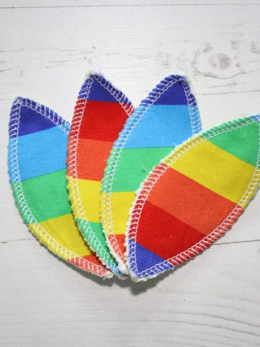 Rainbow Stripes Interlabial pads - set of 4