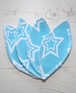 Stars on Aqua Interlabial pads - set of 4