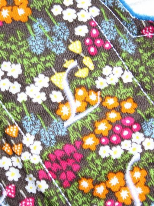 "6"" Regular Flow cloth pad | Woodland Flowers Cotton | Blue Wind Pro Fleece | Luna Landings | Sub"