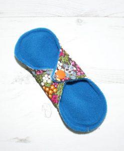 6″ Regular Flow cloth pad | Woodland Flowers Cotton | Blue Wind Pro Fleece | Luna Landings | Sub