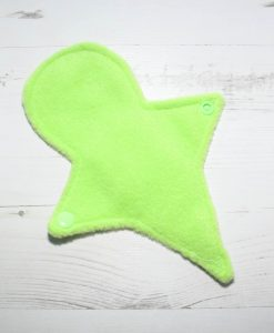 8″ Liner cloth pad | Little Heroes Cotton | Lime Polar Fleece | Luna Landings Basics | Thong