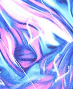 "11"" Regular Flow cloth pad   Indigo Haze Cotton Jersey   Black Wind Pro Fleece   Luna Landings   Sub"