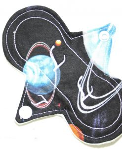 6″ Light Flow cloth pad | Planets Cotton | Mint Wind Pro Fleece | Luna Landings | Slim Sub