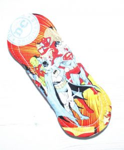 6″ Regular Flow cloth pad | Comic Hero Cotton | Blue Wind Pro Fleece | Luna Landings | Sub